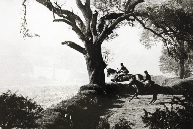 Prince Charles riding with the Quorn Hunt