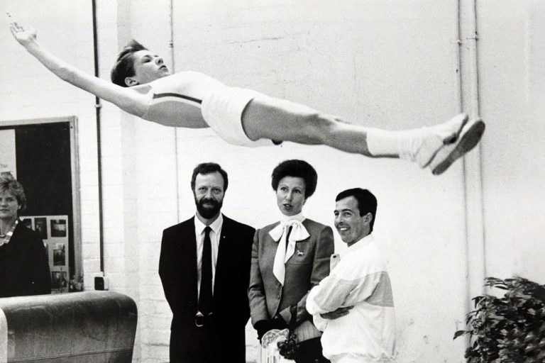 Princess Anne watching gymnastics