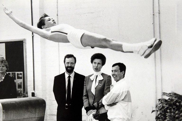 Princess Anne watching gymnastics