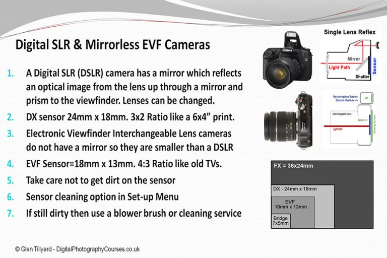Difference Between DSLR and EVF Camera