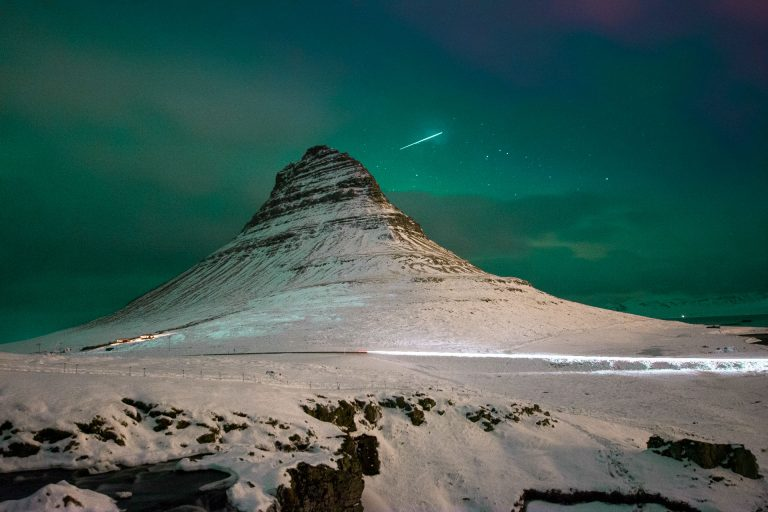 Shooting Star in Iceland