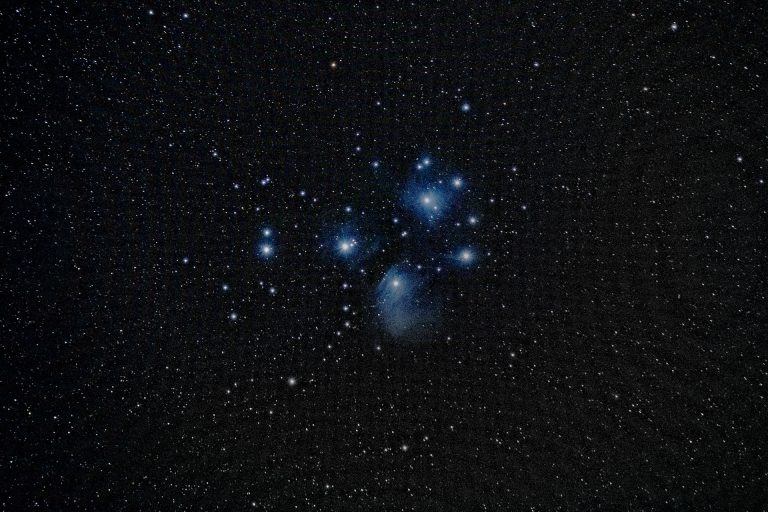 Pleiades or the Seven Sisters is an open star cluster